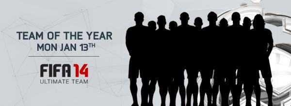 FIFA 14 Team of the Year is out 13th January!