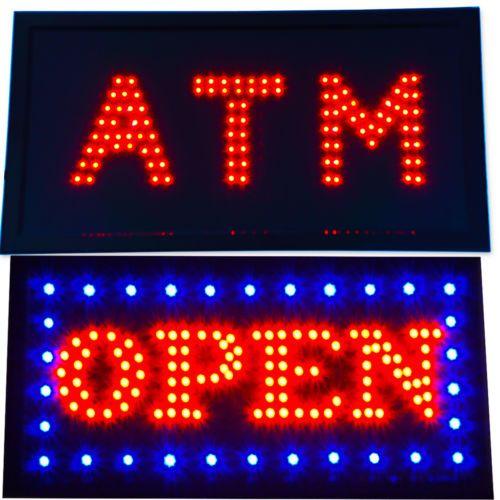 Shop Open Sign Lights: ATM-Classic-Store-Sign-Led-Open-Bright-Bar-Restaurant-Shop