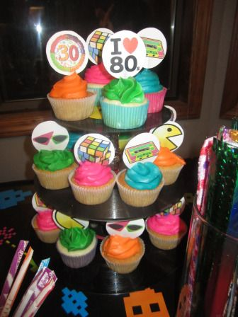1000 ideas about cupcake stand homemade on pinterest for Homemade 80s decorations