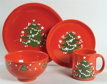 christmas china patterns holiday | Christmas Tree by Waechtersbach China at Replacements, Ltd.