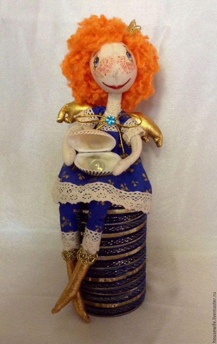 Купить Солнечный рыжий Ангел -2 - оранжевый, рыжий ангел, ангел-хранитель, кукла на каркасе