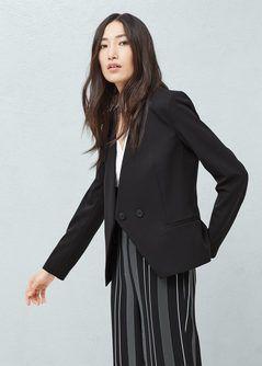 Belt structured blazer