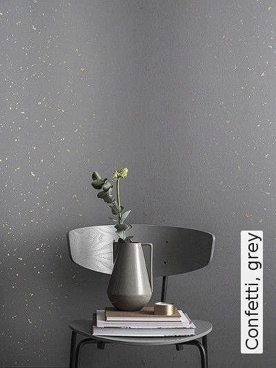 Bild: Tapeten - Confetti, grey