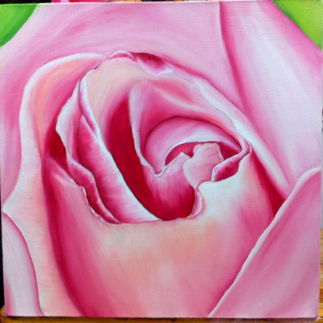 Rosa en óleo