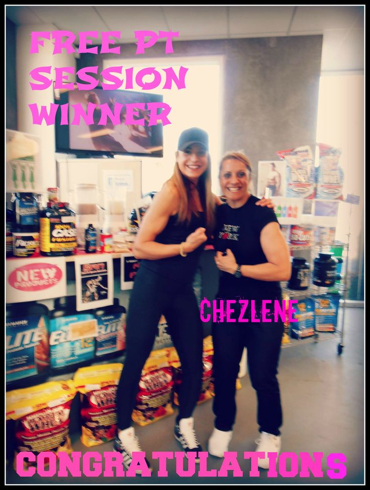 Winner of the free Personal Training Session