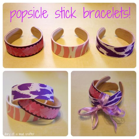 Popsicle-Stick-Bracelets - Here is a tutorial for a fun project to do with your kids - popstickbracelet9
