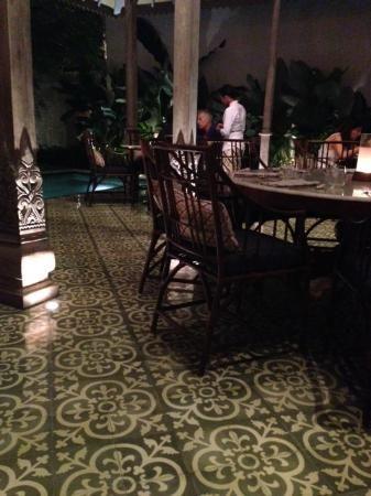 Sadus Tiles handmade cement tiles from Bali in Bambu restaurant Bali - Google Search