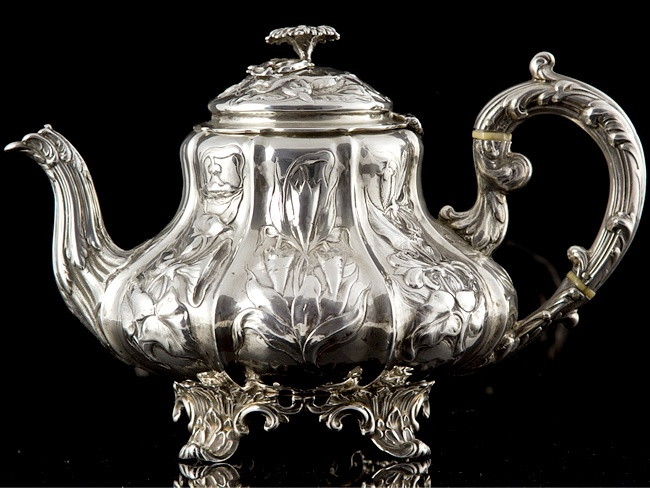 Sterling Silver Victorian Teapot London 1847