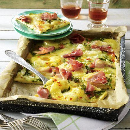 Pfannkuchen vom Blech Hawaii-Art Rezept