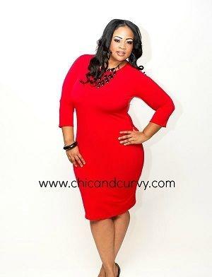 Red bodycon dress plus size - Dress style
