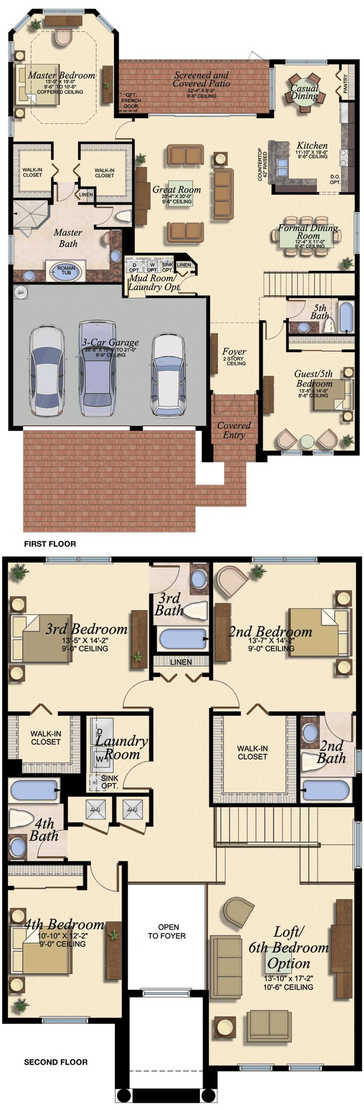 MANDALAY/676 Floor Plan (Large View)