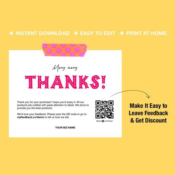 Printable Thank You Cards Business Thank You Cards Thank Etsy Printable Thank You Cards Business Thank You Business Thank You Cards
