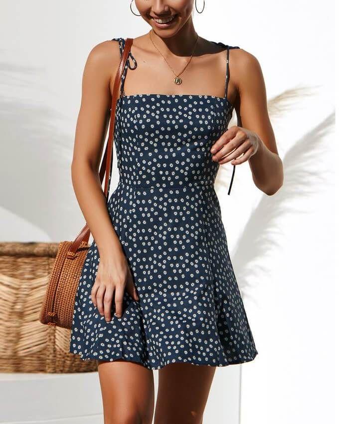 short summer womens spaghetti strap dresses