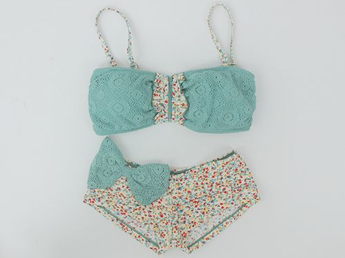 Super cute!: Vintage Swimsuits, Preppy Style, Fashion, Floral Prints, The Hunt'S, Clothing, Swimwear, Bikinis, Bath Suits