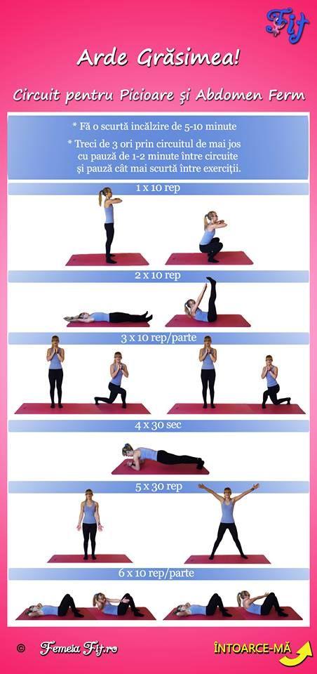 Exercitii pentru picioare si abdomen plat