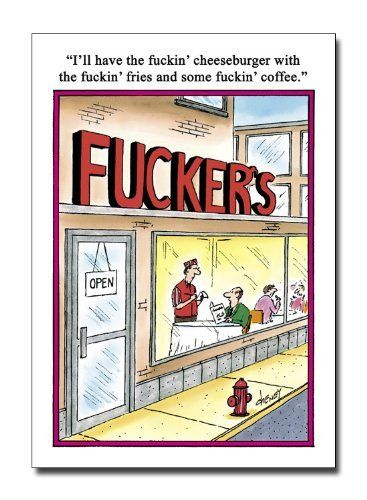 Fuckers - Naughty Cartoon Birthday Greeting Card by NobleWorks. $2.95. This card was dreamed up by NobleWorks, The Humor Company. NobleWorks Inc. is a print-on-demand company offering hilarious, funny, naughty, scandalous, and always awesome greeting cards. We feature funny Christmas cards, funny birthday cards, naughty Christmas cards, naughty birthday cards, and plenty of everything in between. We work with artists and cartoonists like Dan Collins, Dan Reynolds, Tim Wh...