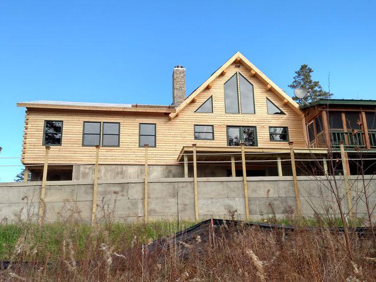 20 best images about hybrid log homes on pinterest good for Log home addition