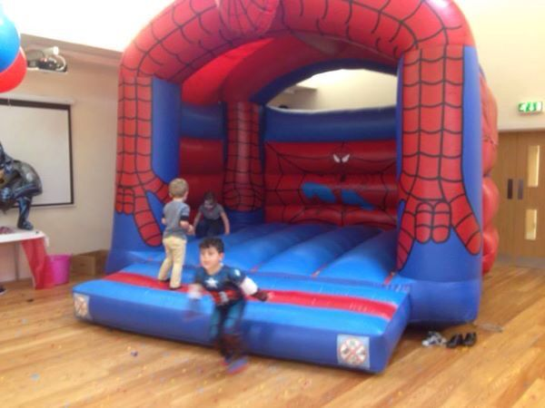 Spider-Man bouncy castle