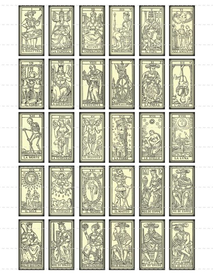 """vintage tarot cards"" that I would like to redo one day as a major project -- pretty, with all the little hints on the card as to how they are read (upside-down and right-side-up hints) as well as the full set, not just the major arcana as shown here"