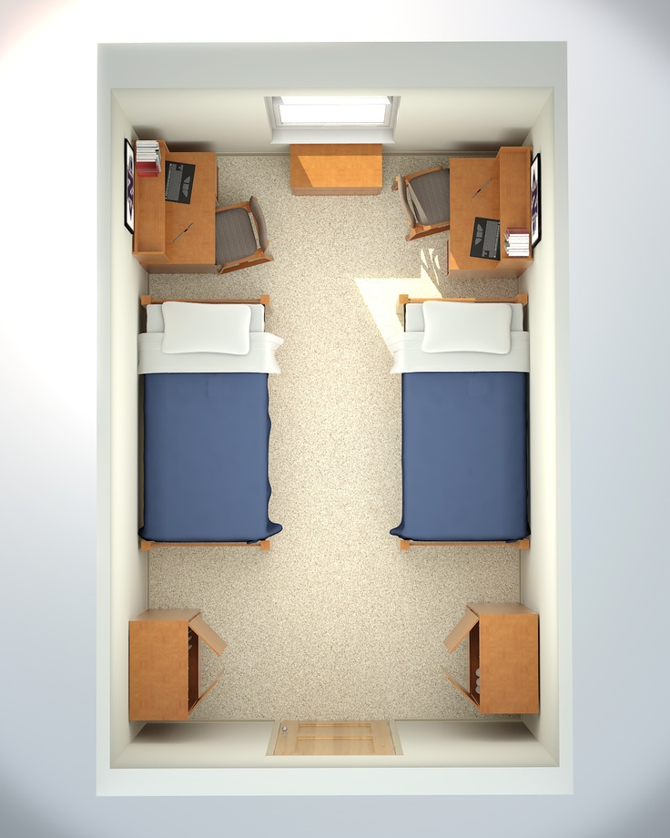 dorm layout? Creates a space for the desk area...perhaps.
