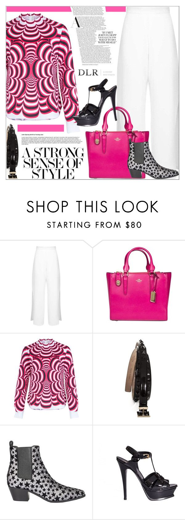 """""""DLRBOUTIQUE.COM"""" by mirachu-1 on Polyvore featuring Miss Selfridge, Coach, Mary Katrantzou, Valentino and Yves Saint Laurent"""