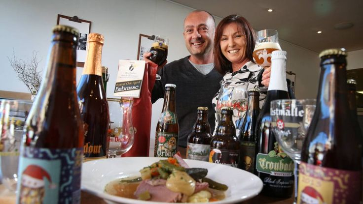 Jason and Anita Pugh run The International Beer collector which is running a Belgian beer dinner at Three Bean on May 17. Picture by DEAN OSLAND