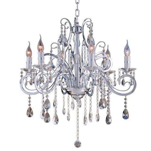 Lampux Kristallleuchter, verchromt, kristallklar, 558 mm breit und 508 mm hoch