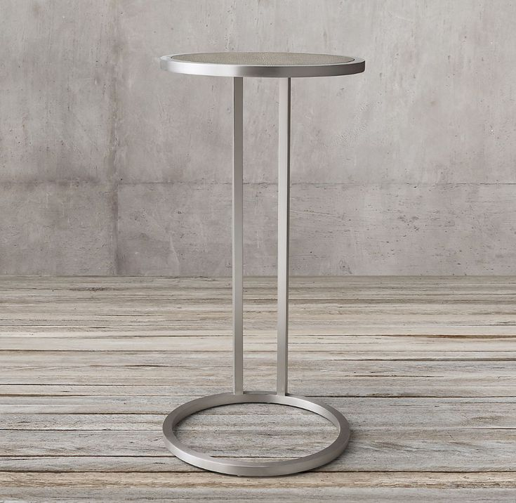 Graydon Shagreen Round Cocktail Side Table Side table