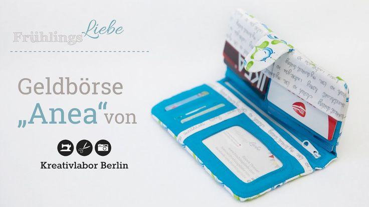 """Frühlingsliebe Nähanleitung: Geldbörse Anea von """"Kreativlabor Berlin"""""""