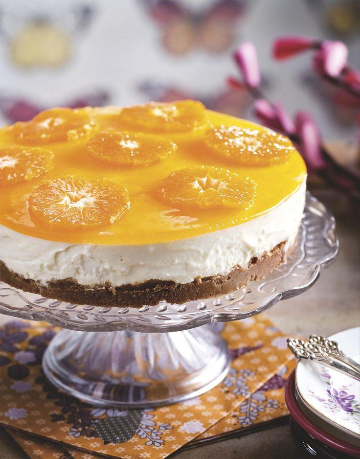 Speculaas-kwarktaart met mandarijn