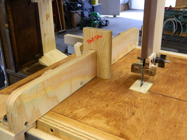 Shop Built Bandsaw With Single Point Resaw Fence Attached