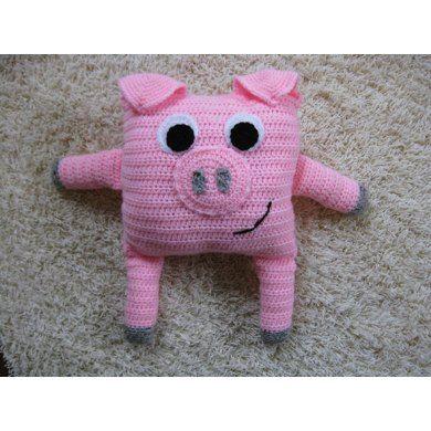 Little Pillow Pals - 11 of 12 - Pig Crochet pattern by Little Squirrel Designs | Crochet Patterns | LoveCrochet