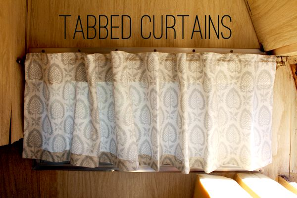 Tabbed Curtain Options Camper Interiors Pinterest