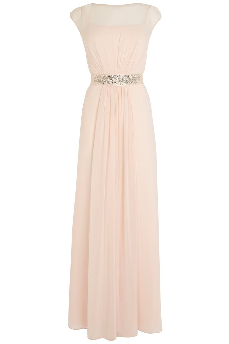 A truly sumptuous maxi gown perfect for any extra special occasion. The Lori Lee Maxi Dress features a sheer bodice lined with a soft slip for a demure and feminine allure. The waist is cinched with a lustrous waist tie embellished with faux gems for an opulent aesthetic. The back of the dress features a graceful keyhole detail and the skirt is fully lined for party perfect movement. This PETITE style is designed to fit women of 5ft 3 (160cm) and under. Model wears UK size: 10.