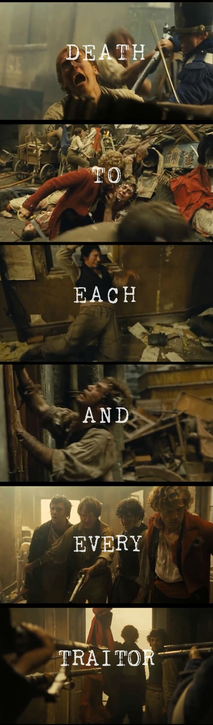 Death to each and every traitor | Les Amis de l'ABC | Les Miserables quote | i can't even describe my emotions now