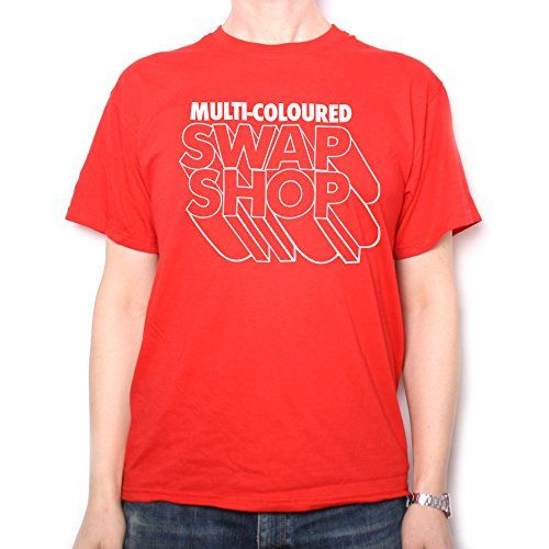 Multi Coloured Swap Shop BBC TV T Shirt