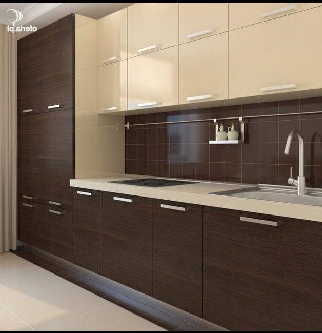 Pin On A Modular Kitchen: Chocolate Interior