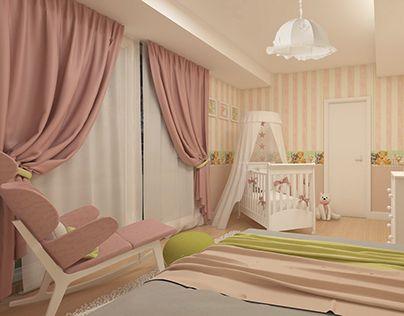 "Check out new work on my @Behance portfolio: ""Baby girl nursery"" http://be.net/gallery/40109051/Baby-girl-nursery"