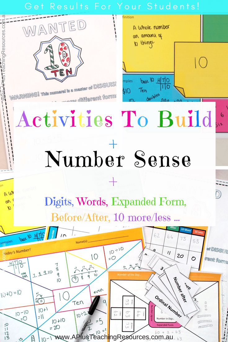 Your students will develop their number sense with these motivating activities. They are suitable for kids of all ages and can be adapted for kids in kindergarten through to 3rd. Use these activities in your math stations, for homework or as part of your teaching program. Visit our site to see a preview video and read more about building number sense. #mathgames #teachingnumbersense #teachingkidsmath