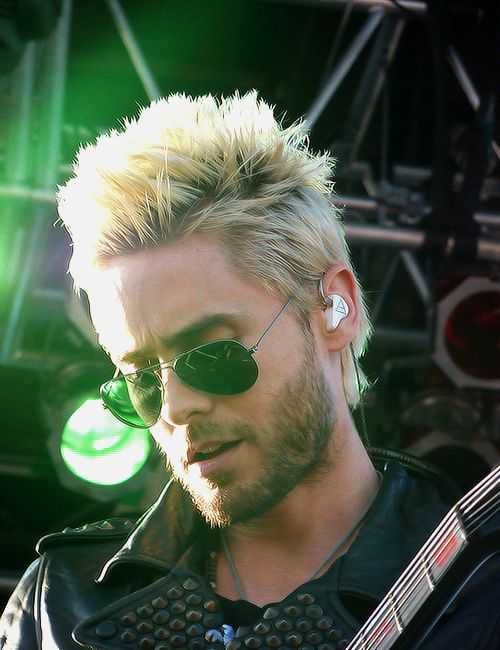 Jared Leto blond hair.
