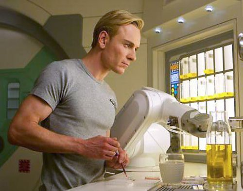 David - Prometheus...always love this pic of him in the form fitting grey T ;)