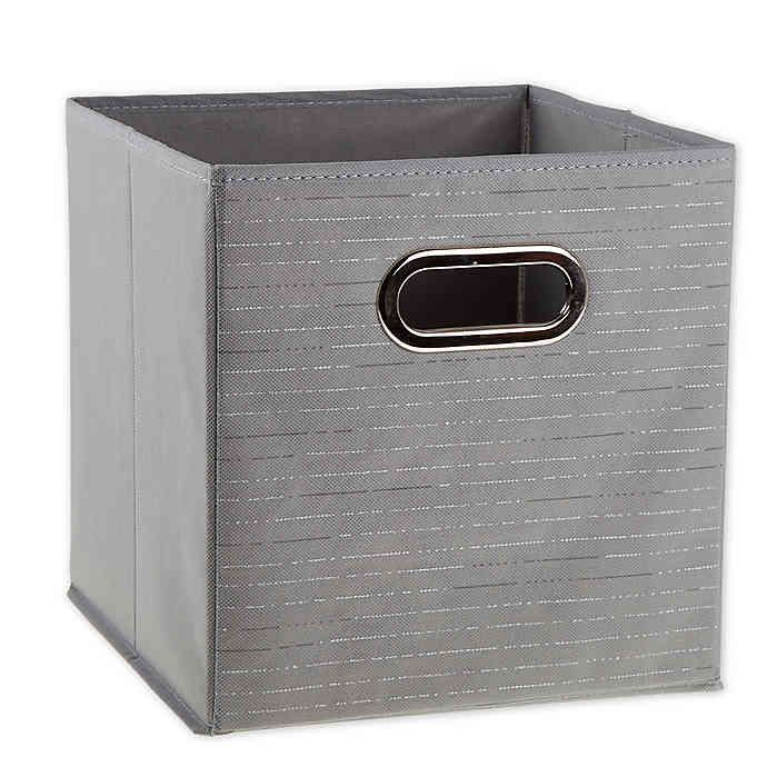 Relaxed Living Silver Foil 11 Inch Square Collapsible Storage Bin In 2020 Collapsible Storage Bins Fabric Storage Bins Fabric Bins