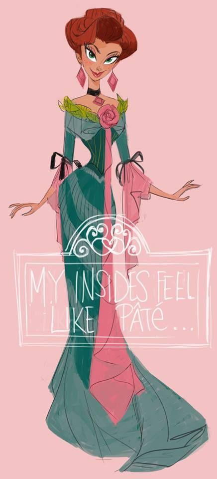Elegant Lady illustration / Signora elegante, illustrazione, disegno - Art by Daemion Elias George-Cox