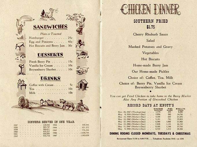 Knott's Berry Farm Chicken Dinner Restaurant 1954