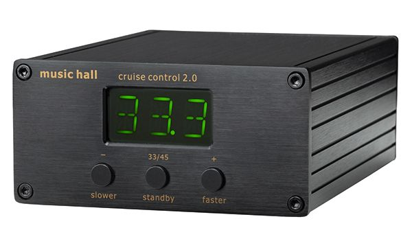 music hall cruise control electronic speed control for turntables. Works with Rega, belt on 45RPM pulley
