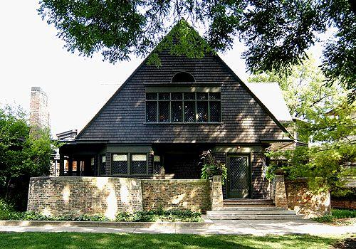 Frank Lloyd Wright (1867-1959) - Studio. Oak Park, Illinois. Circa 1889-1898.