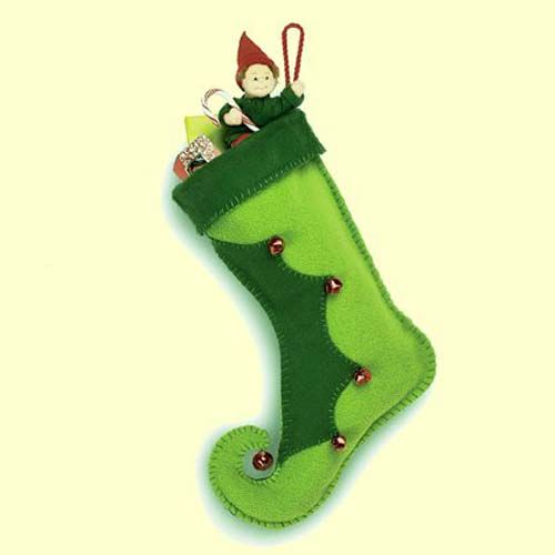 Moldes gratis para hacer botas navideñas de fieltro06