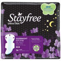 Stayfree Ultra Thin Pads with Wings, Overnight, 14 ea, 1 ea by Stayfree. $1.84. Stayfree Ultra Thin Overnight Pads with Wings
