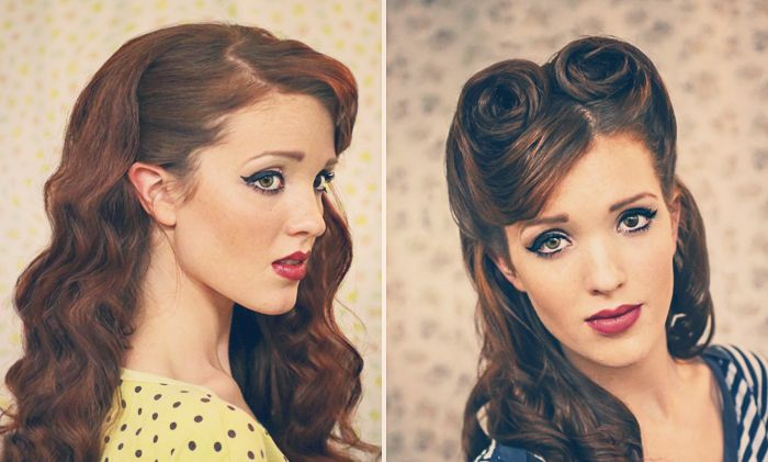 Retro Pin-up Style Hair Tutorials by The Freckled Fox! | Wonder Forest: Design Your Life.