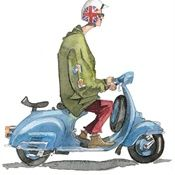 Mod Illustration: Vespa Sketch, Watercolour Paintings, Mod Illustration, Liam S Artwork, Illustrators General, Liam O Farrell, Illustrator Liam, Vespa Scooters, Mods Squad